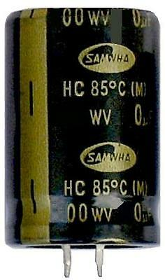 Large Electrolytic Can Capacitors - Snap in Samwha High Quality 100uf - 22,000uf