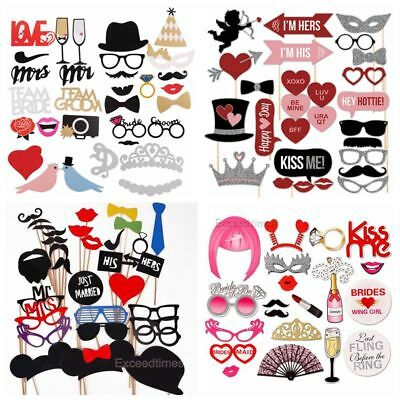 Christmas Party Photo Booth Props Mustache Glasses Games Lips DIY Wedding Decor