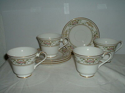 6 Footed Cup & Saucer Sets Royal Doulton Alton Made in England H5055