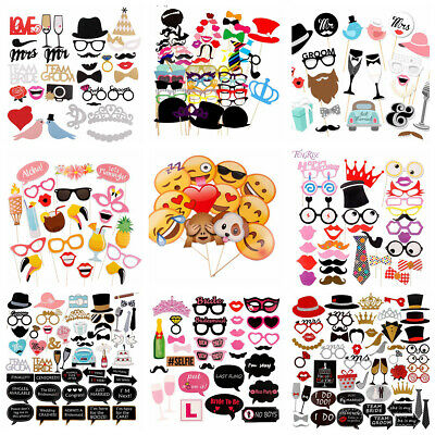 Party Photo Booth Props Mustache On A Stick Happy Birthday Decoration Mask