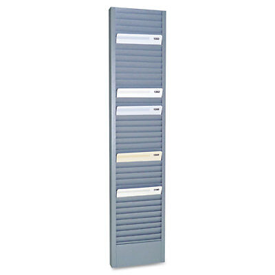 40-Pocket Steel Swipe Card/Badge Rack, 4-1/8'' x 18-11/16''