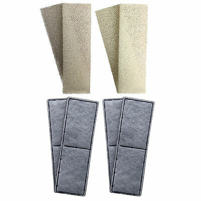 4 x Compatible Fluval U3 Foam and Polycarbon Cartridges Internal Filter Sponges