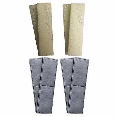 4 x Compatible Fluval U4 Foam and Polycarbon Cartridges Internal Filter Sponges