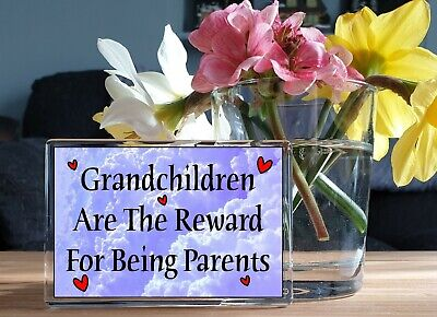 GRANDCHILDREN ARE GOD'S REWARD FOR BEING A PARENT Fridge Magnet - Ideal Gift