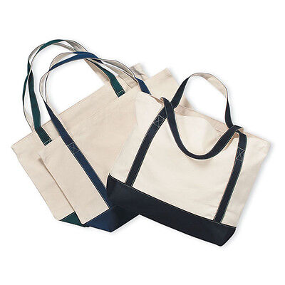 Heavy Duty Canvas Tote Bag Grocery Bag Beach Bag 3 colors to choose!! 19x13x4.5