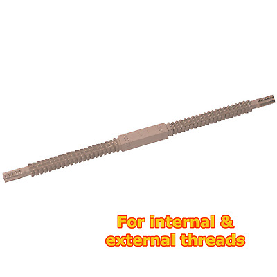Metric thread restoring file for internal & external thread repairs 0.8-3.0mm