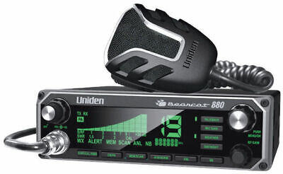 Uniden BC-880 Bearcat CB Radio 40 Channel Mobile 7 Color Display NOAA Weather