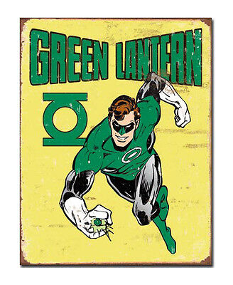 DC Comics A3 Retro Tin Metal Sign GREEN LANTERN 41x32cm Vintage look Licensed