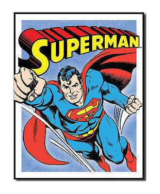 DC Comics A3 Retro Tin Metal Sign SUPERMAN 41x32cm Anime Book Panel Licensed