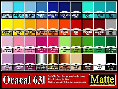 "5 rolls 6""  Oracal 631  Matte  adhesive backed vinyl Sign & Craft"