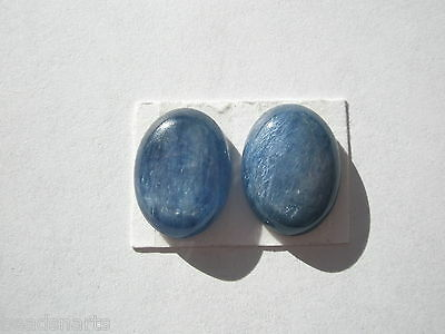 Natural  A+ Kyanite Oval Gemstone Cabochons - 16x12mm - pair