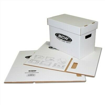One New BCW Magazine Size Corrugated Cardboard Storage Box