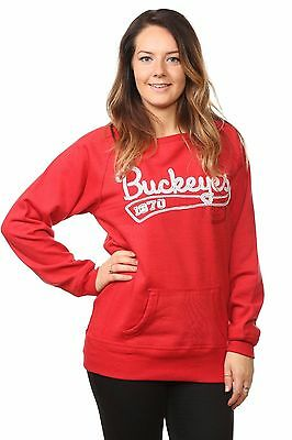 Ladies Fleece Sweats Casual Long Sleeve Round Wide Neck Pullover Jumpers Tops