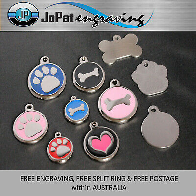 Deluxe Pet Tag Pet ID Dog Kitten Puppy Cat Name Pet Tags Personalised Engraved