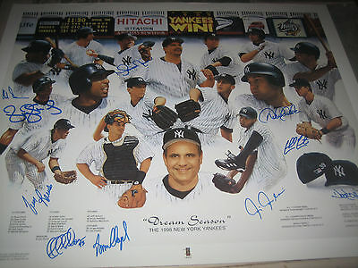 "Yankees ""Greatest Ever"" Litho Autographed by Jeter, Mariano plus more +"