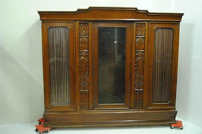 Beautiful Antique Carved German Bookcase-- 06Bl105