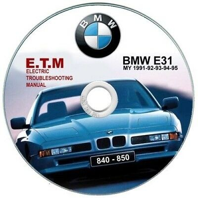 Bmw 850 (E31) E.T.M. Electric Troubleshooting Manual - Schemi elettrici