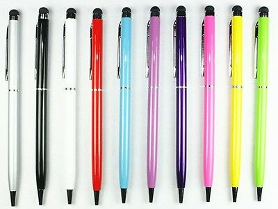 5X 2-in-1 Touch Screen Stylus Ballpoint Pen for iPad iPhone Smartphone Tablet PC