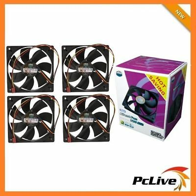 Cooler Master 4x 120mm Silent Case Fan SI2 Value Pack 3-pin 12cm CoolerMaster