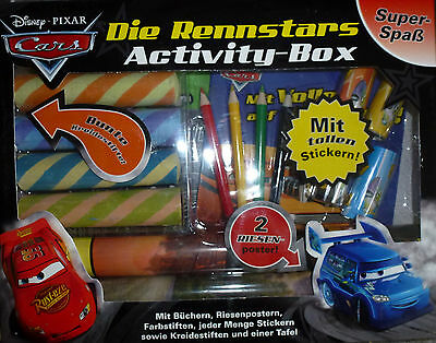 Restposten 3x Disney Pixar Cars Activity Box Malen, Lesen, Stifte, Sticker - NEU