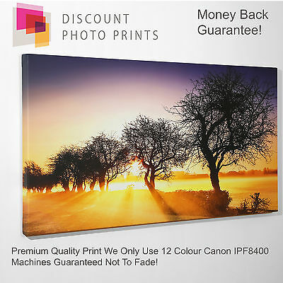 Your Own Photo Canvas. Personalised Quality Framed Print - Large Sizes Landscape