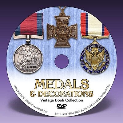 MEDALS & DECORATIONS - 13 Rare Books on DVD! - Military, Naval & Civil