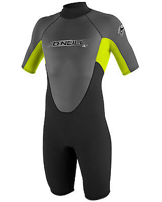 O'Neill Reactor Boys 2mm Shorty in Black & Lime - On Sale Now