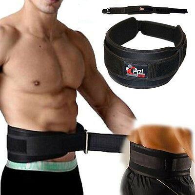 CHZL Pro Body Building Weight Lifting Gym BELT Exercise Training  - Black M