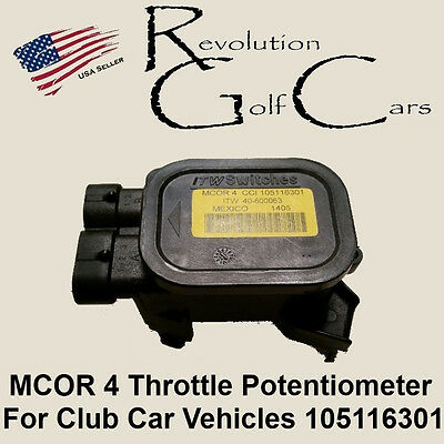 MCOR 4 Throttle Potentiometer for Club Car DS / Precedent 105116301