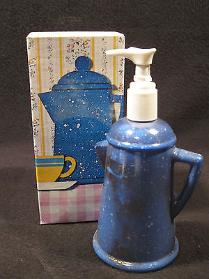 Vintage Collectible Avon Country Style Coffee Pot Hand Lotion NEW in BOX (NIB)