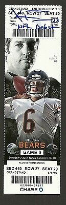 Kyle Fuller Ip Auto Signed Nfl Debut Ticket 9/7/2014 Chicago Bears With Insc !!!