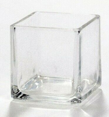 Square Glass Wedding Event Bling Annivesary Tealight candle holder BUY QTY REQD