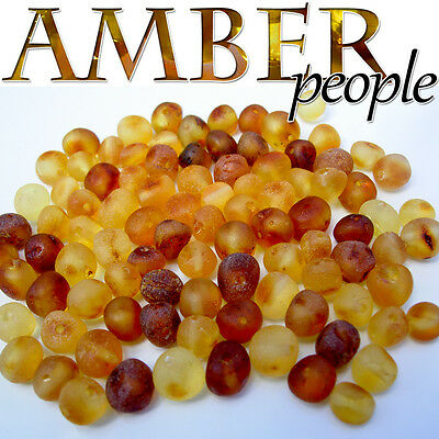 Authentic Baltic Raw Amber Holed Loose Rounded Beads 10g * Random Colours*