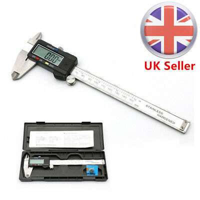"Digital LCD Display Vernier Caliper 6"" 150mm Electronic Tool Micrometer Gauge UK"