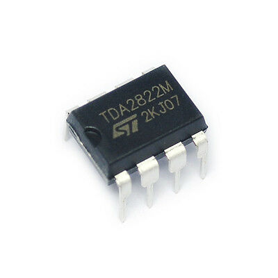 10Pcs Ic Tda2822M Tda2822 Dip-8 St Amp Audio Dual Low Volt New