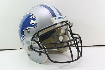 Game Worn Used Football Helmet DETROIT LIONS Style Schutt PRO AIR II Riddell mas