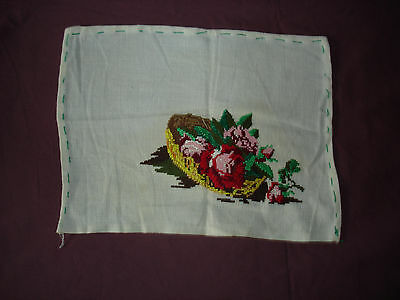 #251 Beautiful Vintage Hand-Embroidered Motif 12''/8.5''(30cm/22cm)