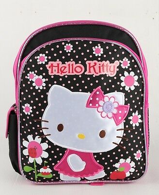 42923d794 Hello Kitty Flower Toddler size Girls School Backpack 12
