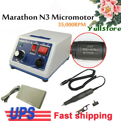 USA Dental Lab MARATHON 35k Rpm Handpiece Electric Micro motor N3 2.35mm Bur