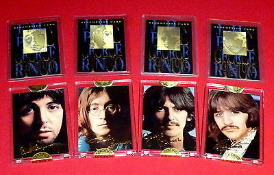 Beatles 24K Signature Series Cards *** Complete Set Of 8 *** 1996 Sports Time