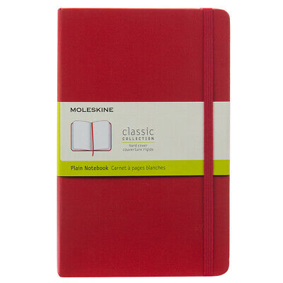 NEW Moleskine Classic Plain Hard Cover Notebook Red Large