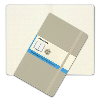 NEW Moleskine Classic Soft Cover Large Dotted Notebook Khaki