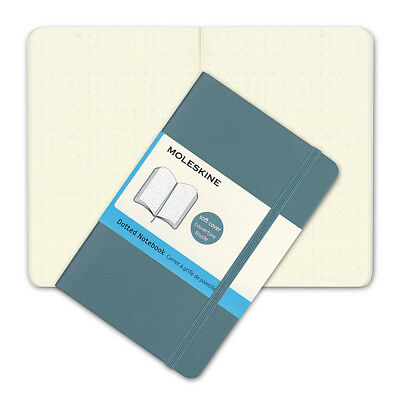 NEW Moleskine Classic Soft Cover Pocket Dotted Notebook Blue