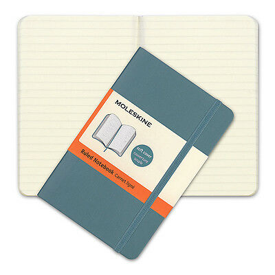 NEW Moleskine Classic Soft Cover Pocket Ruled Notebook Blue