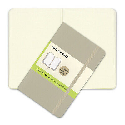 NEW Moleskine Classic Soft Cover Pocket Plain Notebook Khaki