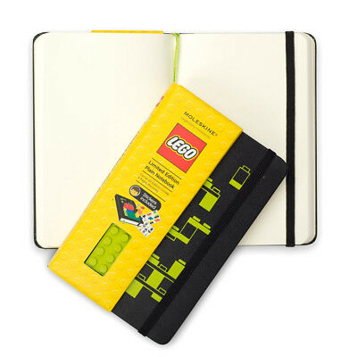 NEW Moleskine Lego Small Green Notebook with Plain Pages