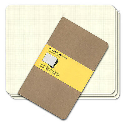 NEW Moleskine Cahier Large Squared Notebook Set 3pce