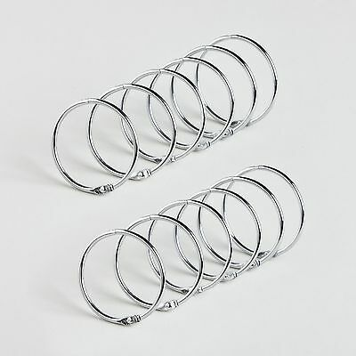 """Stainless Steel Shower Curtain """"O"""" Rings New Free Shipping"""