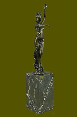 Art Deco Nouveau Figural Bronze Nude Milo Lady Flapper Girl Lost Wax Method Gift