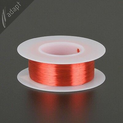 37 AWG Gauge Magnet Wire Red 2000' 155C Solderable Enameled Copper Winding HPN